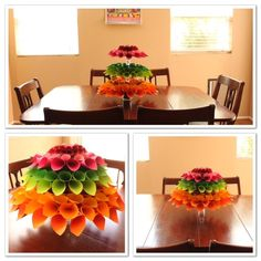 Tiered Paper Dahlia Table centerpiece!!