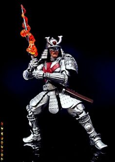 Silver Samurai custom action figure from the Marvel Legends series using Tamashi Samurai Stormtrooper as the base, created by Toycooker. Silver Samurai, Marvel Legends Series, Plastic Art, Custom Action Figures, Sideshow Collectibles, Figure Model, Wolverine, X Men, Darth Vader