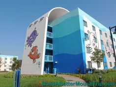 Back of one of the Finding Nemo Buildings at Disney's Art of Animation Resort. - For more resort photos & information, see: http://www.buildabettermousetrip.com/disneys-art-of-animation #DisneyWorld #FindingNemo