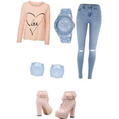 A fashion look from February 2015 featuring Vero Moda sweatshirts, River Island pants and Lucien Piccard watches. Browse and shop related looks.