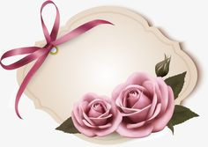 Etiquetas cor - de - Rosa Rosa, Rosas Cor - De - Rosa, Ribbon, Tags PNG e Vector