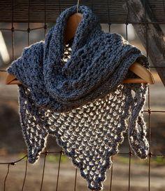 Vegan Crocheted Grey Sweet November Inspired by Geminivintagestore, $45.00 #shawl #veganfashion #anthracite #crochet #crochetshawl