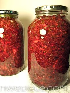 Lacto Fermented Cherry Salsa