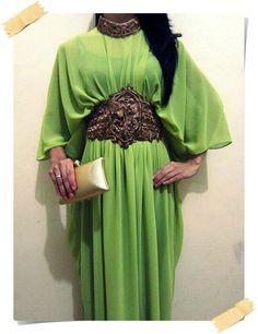 line green abaya - Google Search