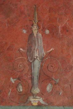 Fresco from the Villa of the Farnesina in Rome. Fresco, Tempera, Ancient Rome, Ancient Art, Pompeii And Herculaneum, Roman Art, Fantasy Illustration, Mural Painting, Archaeology