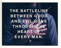 Man between good and evil