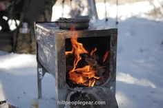 The easiest assembling and strongest burning collapsible wood stove made