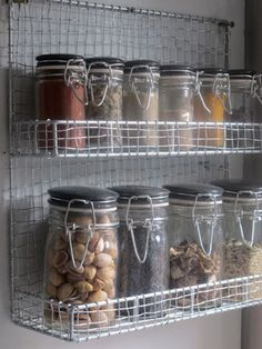 Wire Spice Rack With 10 Jars 20