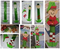 Hot Flash'n Craft'n: Elf Craft Stick Ornament