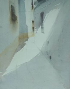 Francisco Castro(Spanish, b.1971) Calle Blanca II watercolor