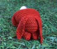 knitted rabbit from a square | Knitted Bunny Tutorial ...bunny made from a square of knitting