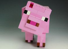 Lego Minecraft Pig by BrickBum on Lego Ideas.  Vote for the Pig!