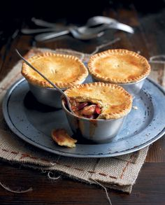These smoky chicken pot pies with chorizo and kidney beans can be made ahead, frozen, then cooked when ready.