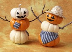 Mini pumpkins make pint-sized scarecrows - National Arts and Crafts | Examiner.com
