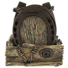 Horseshoe Coaster Set Will Look Right At Home In Your Western Themed Family Room Or Office With A Weathered Metallic Finish And Intricate