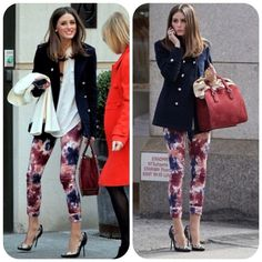 Kate Spade Saturday Hot Lava Pants Print trousers. New without tags. I purchased these at Kate Spade Galleria Houston store and never wore or washed them. First photo photos are of Olivia Palermo, to give idea about how to combine colorful print pants. Actual pants are shown in the 3rd and 4th photos. kate spade Pants Skinny