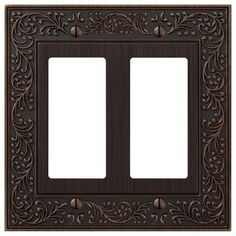 Amerelle English Garden 2 Decora Wall Plate - Aged Bronze-43RRVB - The Home Depot