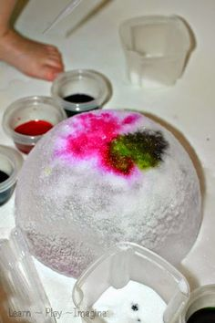 Ice Art with Salt and Watercolors ~ Learn Play Imagine