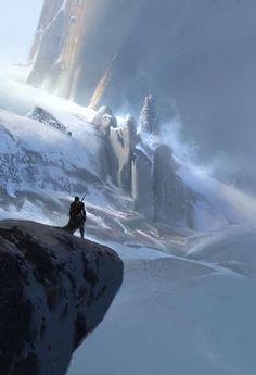 Winter Peak by Max Bedulenko (Fantasy Art Watch)