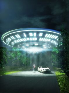 Someone is about to go for a ride! Art by Luca Oleastri - www.innovari.it #ufo #alien #abduction