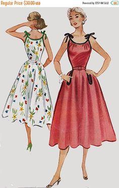 ... des années 50, patron de couture Vintage taille 12 non circoncis