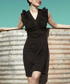 Take a look at this Black Rosarita Dress by Shabby Apple on #zulily today!