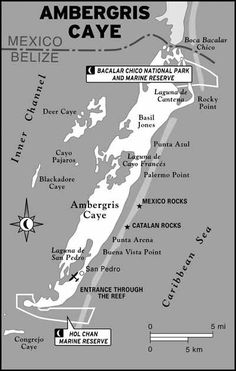 Map of Ambergris Caye
