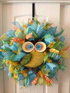 Adorable Owl wreath- Sold $85 + shipping