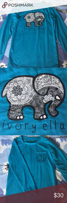 Ivory Ella Long Sleeve shirt Got this Ivory Ella shirt as a gift but it was too small. The size is suppose to be a medium but it fits very tight almost like a small. Nothing wrong with it, never worn Ivory Ella Tops Tees - Long Sleeve
