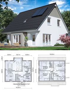 Modern Tiny House, Dream House Plans, Modern House Plans, House Floor Plans, Dream Home Design, My Dream Home, Affordable House Plans, House Construction Plan, Tiny House Exterior