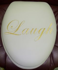 Expressions Embroidered Padded Toilet Seats by World Wide Mfg. Co. Florida - Live, Laugh, Love, Bless, Faith, Peace, Family, Friends and more. Custom Embroideries Available