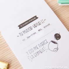 Bloc de notas amoroso - 120 razones por las que te quiero - Mr. Wonderful