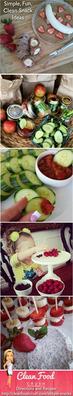 Clean Simple Snacks Ideas http://cleanfoodcrush.com/simple-snacks/