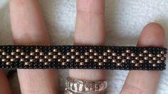 Loom beaded bracelet by Suusjabeads on Etsy hard Loom Bracelet Patterns, Bead Loom Bracelets, Bead Loom Patterns, Beading Patterns, Jewelry Patterns, Beaded Earrings, Beaded Jewelry, Beading Techniques, Loom Beading