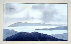 An original, one off seascape painting of Eigg, Scotland. The artwork shows the Eigg viewed from Knoydart, a fabulous landscape, painted in watercolour. The artwork is sent in a card mount to fit a standard A4 (21cm X 29.7 cm frame. Please visit my Etsy home page for more original artwork: