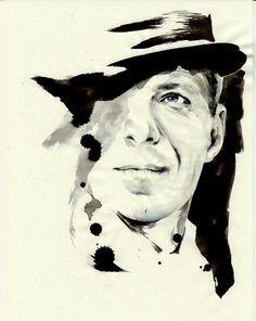 Sinatra - Parker Pen, Black Ink, illustration by Mitja Bokun, November 2012