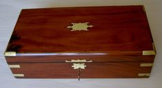 Georgian solid mahogany writing slope box