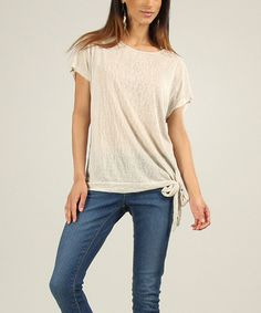 Look at this Beige Jessica Dolman Top on #zulily today!