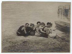 A cute group photo by the beach.