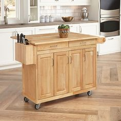 August Grove® Epping Kitchen Island With Wood Top