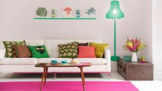 Bright Floral Living Room