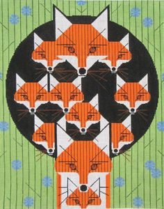Charley Harper Needlepoint Foxsimilies (In Stock)