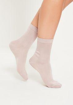Pink Slinky Ankle Socks - Missguided