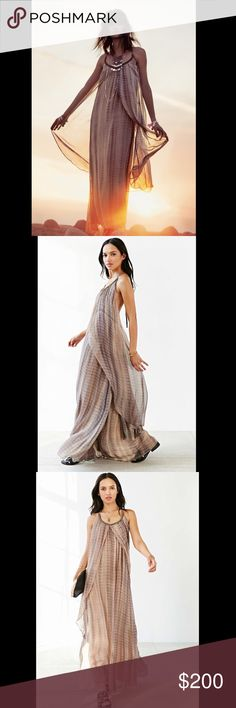 🦄BOGO FREE!🦄chiffon flowy maxi dress Golden beads pepper the strappy halter neckline of a backless maxi dress. Fluttery front panels gently sweep toward the hips to the floor-grazing skirt for an elegantly tiered look. 295152. Function & Fringe boutique is a collaboration of carefully curated and handcrafted bohemian Luxury items.  Retail:$163 sizes: xs   ❤I have over 300 new with tag Free People items for sale! I love to offer bundle discounts!  ❤No trades. love the item but not the…