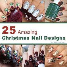 25 Amazing Christmas Nail Designs - 2013. click to see them all.