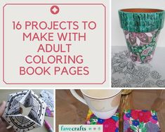 It's sometimes hard to know what to do with all your printable coloring pages when you're done with them. Fear not, because this exciting list of 16 Projects to Make with Adult Coloring Pages is your answer.