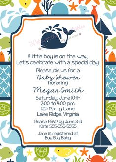 under the sea baby shower invitations sea by