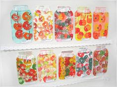 kokokoKIDS: Штампы You could make your own shelf of Mason Jar shapes and have the kids fill the pantry with the things they would love to eat! Kids Crafts, Fall Crafts For Toddlers, Toddler Crafts, Crafts For Teens, School Art Projects, Projects For Kids, Apple Theme, Apple Prints, E Mc2