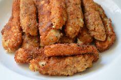 Vegan aquafaba mozzarella sticks