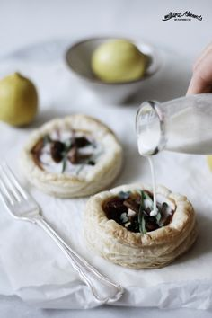 #Vegan Onion & Shiitake Tarts